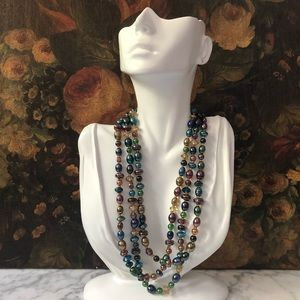 Vintage Art Glass Beaded Necklace